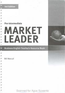 Market Leader Pre-Intermediate Teachers resource book.3rd edition