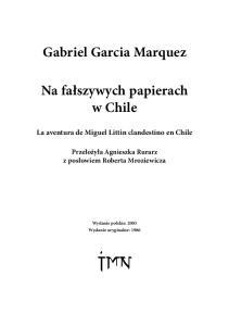 Marquez G G Na falszywych papierach w Chile