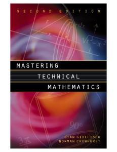 Mastering Technical Mathematics 2nd Edition - Gibilisco And Crowhurst