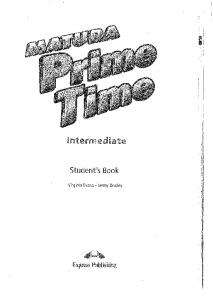 MATURA PRIME TIME - intermediate - students book