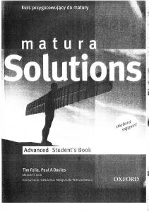 MATURA SOLUTIONS ADVANCED STUDENTS BOOK