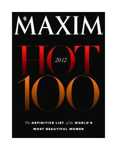 Maxim 2012 - Hot 100 Beautiful Women