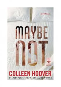 Maybe Not Colleen Hoover PL