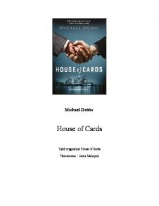 Michael Dobbs - House of Cards