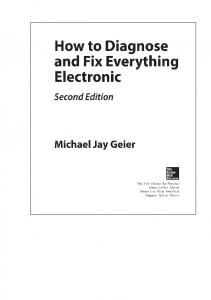 Michael Jay Geier - How to Diagnose and Fix Everything Electronic, 2nd Ed 2016