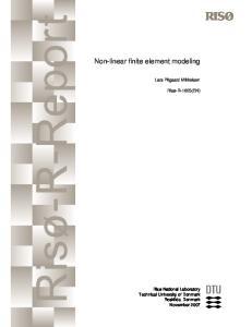 Mikkelsen - 2007 - Non-linear finite element modeling