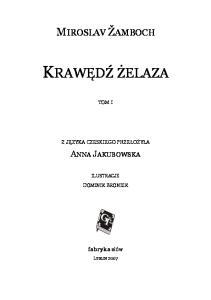 Miroslav Zamboch - Krawedz zelaza t. 1