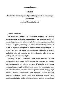 Miroslav Zamboch Rasistowsko Szowinistyczna Bajka z Ekologiczno Homoseksualnym Podtekste