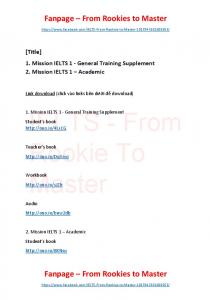 Mission IELTS 1 - General and Academic