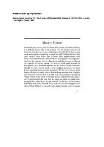 Modern Fiction - Virginia Woolf