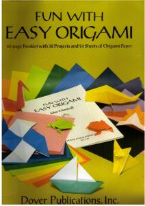 Montroll J.-Fun with easy origami