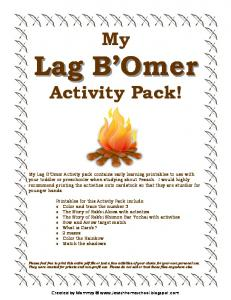My Lag Bomer Activity Pack