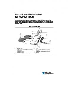 MyRIO user guide & specifications