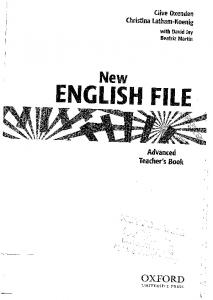 NEF Advanced Teachers Book