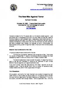 Noam Chomsky Americas war on terror