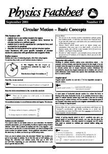 Notes and Questions Circular Motion Physics Factsheet
