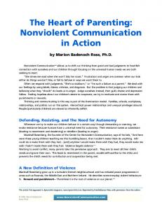 NVC Article- The Heart of Parenting
