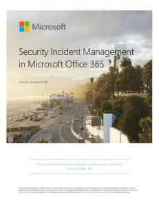 Office 365 Security Incident Management