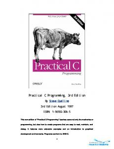 OReilly - Practical C Programming 3Rd Edition