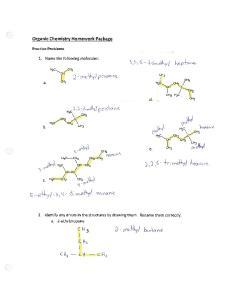Organic Homework Answers 1 - 22