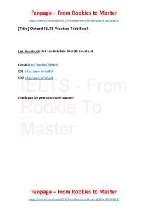 Oxford IELTS Practice Test Book
