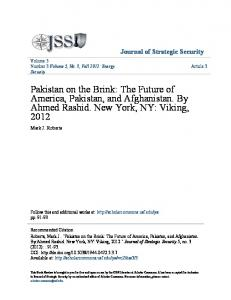 Pakistan on the Brink- The Future of America Pakistan and Afgha