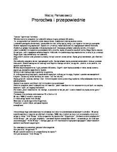 Parkasiewicz Maciej - Proroctwa i przepowiednie