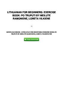 pdf-77\lithuanian-for-beginners-exercise-book-po-truputi-by-meilute-ramoniene-loreta-vilki
