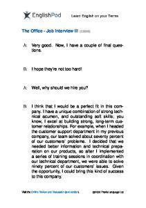 PDF - Advanced - Job Interview III