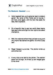 PDF - Elementary - Baseball