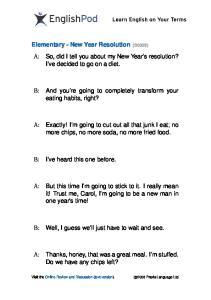 PDF - Elementary - New Year Resoluti