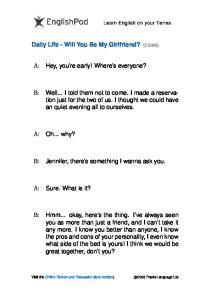 PDF - Elementary - Will You Be My Girlfriend
