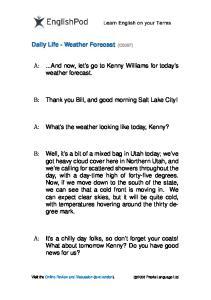 PDF - Upper Intermediate - Weather Forecast