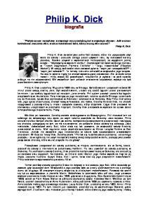 Philip K Dick biografia