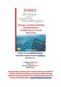 Piotr Surdel - Forex - Strategie i systemy transakcyjne