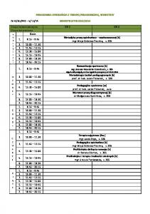 plan IV semestr