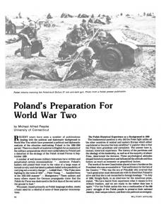 Polands Preparation for World War Two