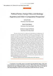 Political Parties, Foreign Policy and Ideology Argentina and Chile in Comparative Perspect