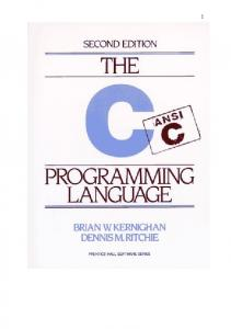 Prentice Hall - The ANSI C Programming Language 2nd ed. by Brian W. Kernighan and Dennis M