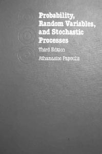 Probability Random Variables And Stochastic Processes - Athanasios Pap