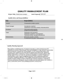 Process Imprevement Plan