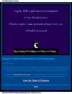 Psychic skills book