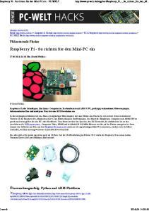 Raspberry Pi - So richten Sie den Mini-PC ein - PC-WELT