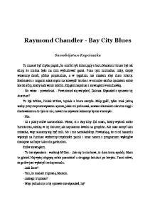 Raymond Chandler - Bay City Blues