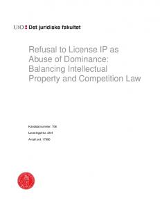 Refusal to supply and IP