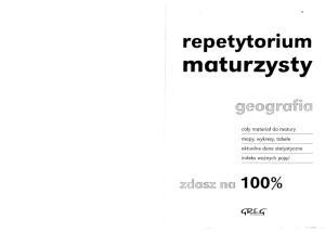 Repetytorium maturzysty. Geografia Wyd. 2