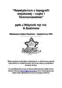 Repetytorium z topografii wojskowej cz.I_Terenoznawstwo