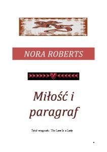 Roberts Nora - Milosc i paragraf