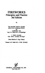 Ronald Lancaster - Fireworks Principles And Practice 3rd Edition