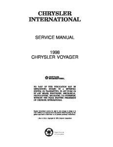 Sam Naprawiam Chrysler Voyager 1998 [ENG]